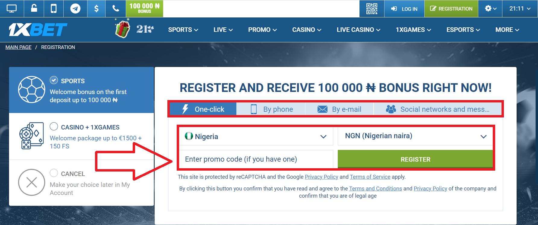 1xBet Nigeriaregistration Bonus Read more